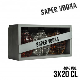 SAPER VODKA (3X20CL GRENADE...