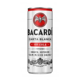 BACARDI & COLA (24X25CL CANS)